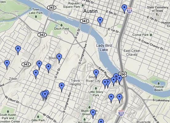 South Austin Map