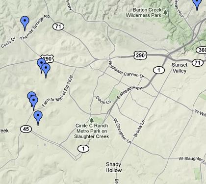 Southwest Austin Map