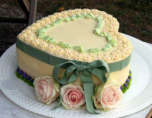 Heart Shaped Bridal Shower Cake