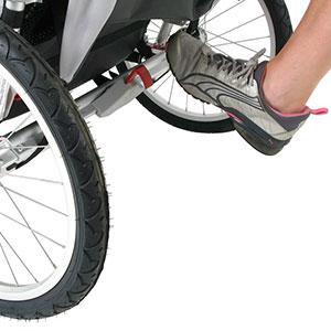 jogging stroller parking brake