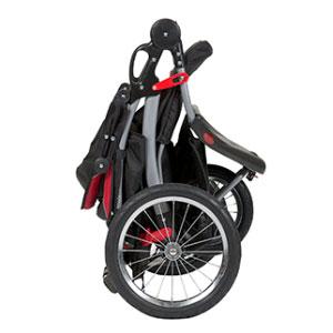 jogging stroller using folding mechanism