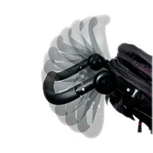 adjustable handle bar on a jogging stroller