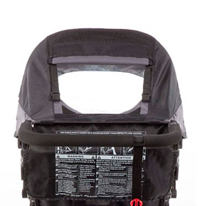 jogging stroller canopy pee-a-boo window to look at baby