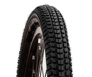 the tire tread on a jogging stroller wheel